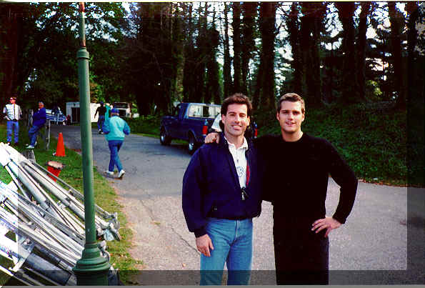 Click here to e-mail.   Screen Actors Guild & AFTRA union member Ferguson (left) working on the Warner Bros.'s movie set with fellow actor and pal Chris O'donnell !
